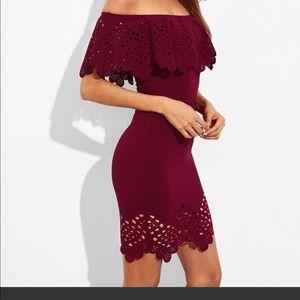 Attractive Burgandy Dress ❤️💃🏻